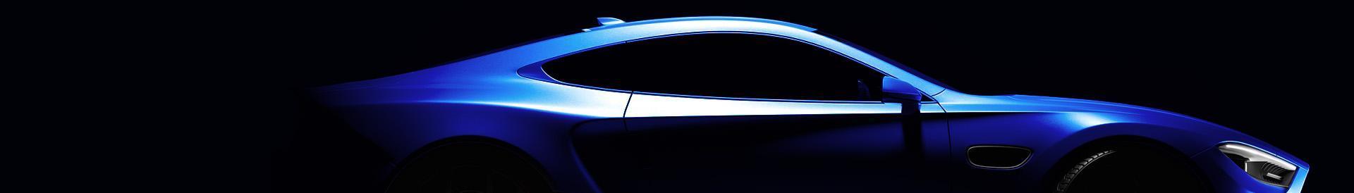 Samochód w ciemności widziany od boku